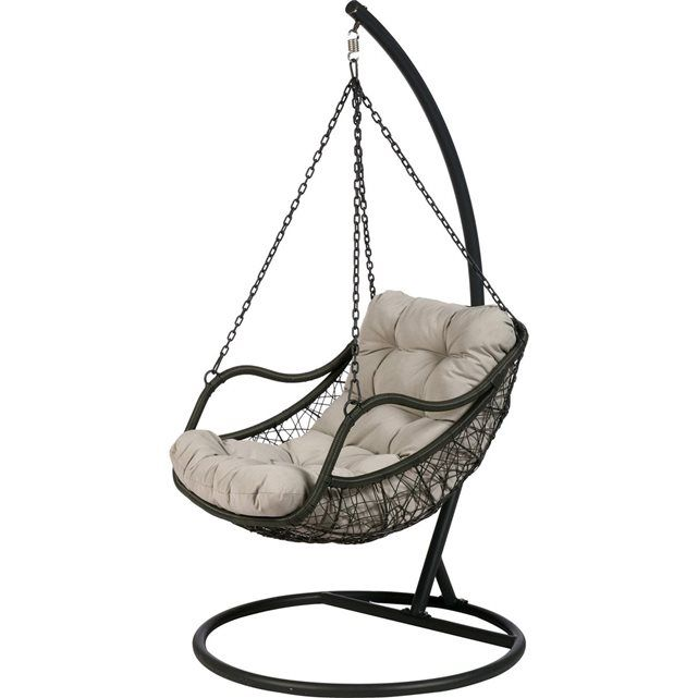 fauteuil uf suspendu gibraltar gris hesperide prix avis notation livraison - Chaise Oeuf Suspendu