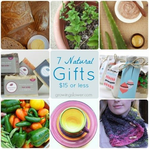 7 lovely Gift Ideas under $15 that the women in your life will love! www.growingslower.com #cheapgifts #savingmoney Perfect if you're doing Christmas on a budget this year.