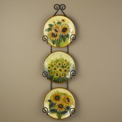 Sunflower Plates with Display Rack & Sunflower Plates with Display Rack | Shop NWF | Pinterest ...
