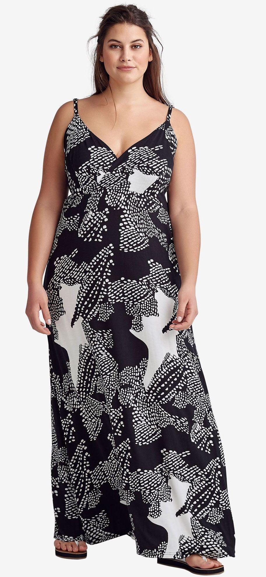 Plus Size Surplice Maxi Dress Plussize Maxi Dress Plus Size Outfits Plus Size Maxi Dresses [ 1978 x 913 Pixel ]
