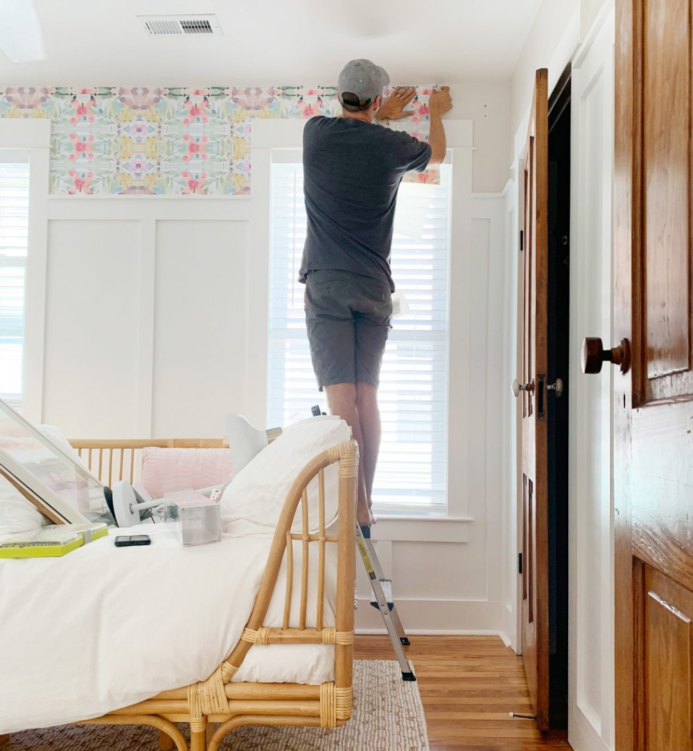How To Hang Peel Stick Wallpaper On Video Young House Love Young House Love Peel And Stick Wallpaper House
