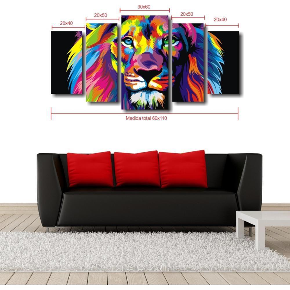 Quadro Decorativo Leão Moderno Para Sala - Americanas.com