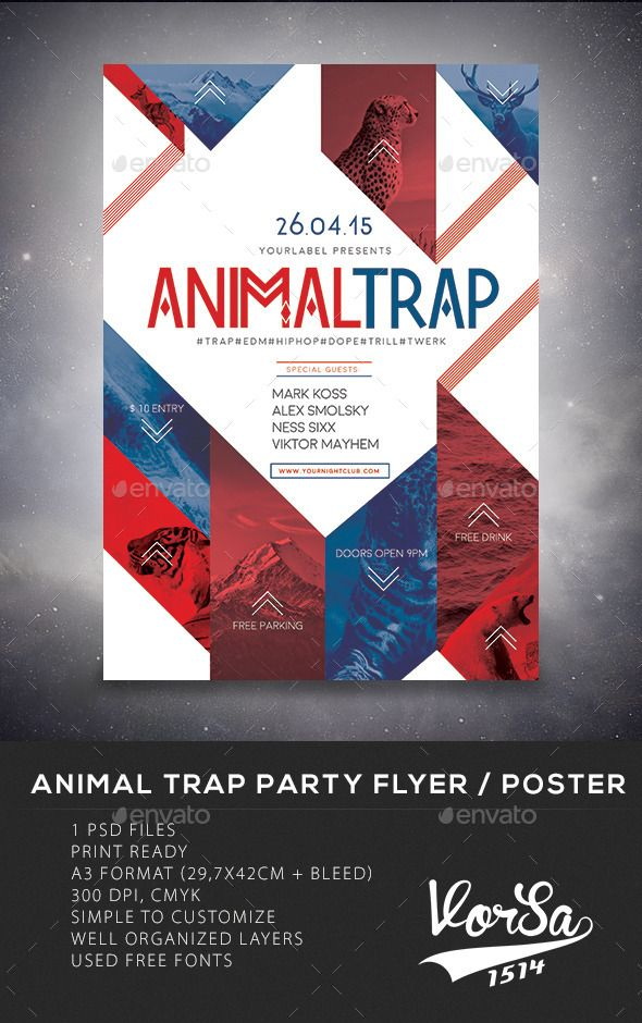 Animal Trap Party Flyer/Poster