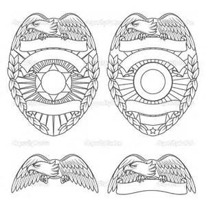 Police Hat Coloring Page Outline Coloring Pages Police Badge Badge Template Badge