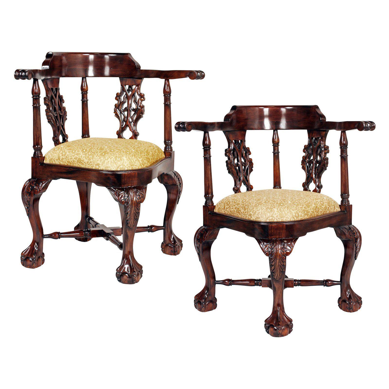 Design Toscano Chippendale Corner Chair
