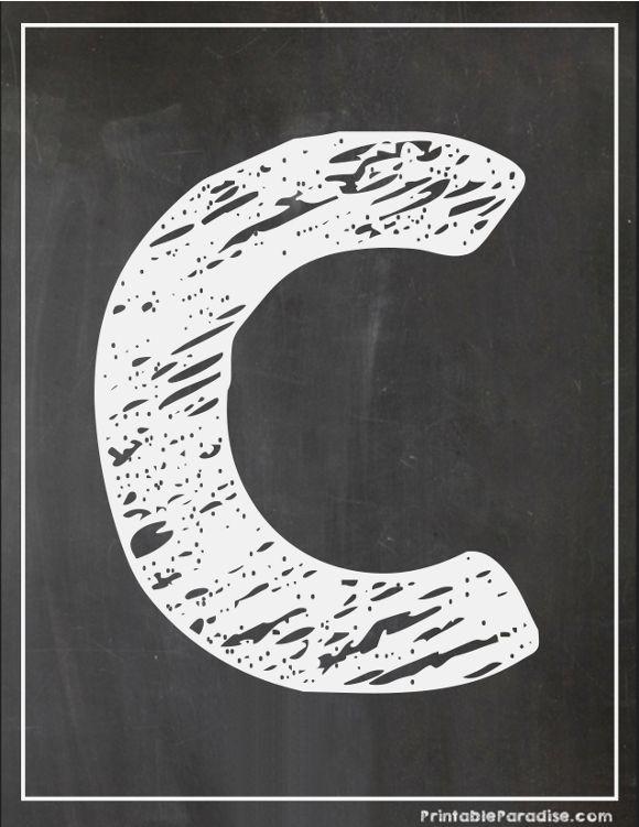 image about Printable Chalkboard Letters referred to as Printable Letter C Chalkboard Composing Printable Chalkboard