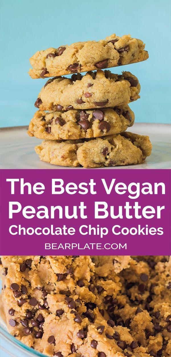 The Best Vegan Peanut Butter Chocolate Chip Cookies Recipe Vegan Cookies Recipes Peanut Butter Chocolate Chip Cookies Peanut Butter Chocolate Chip