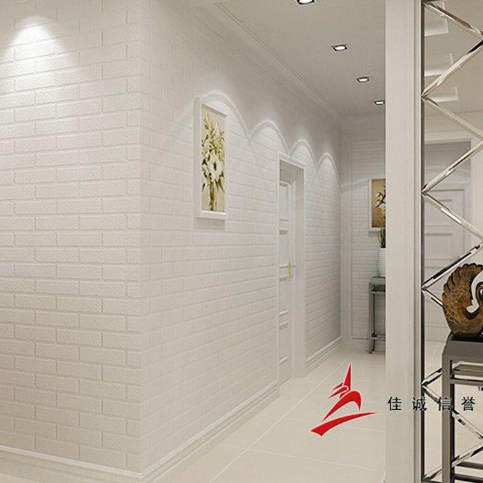 Barato papel de parede de tijolo branco grosso para for Papel de pared barato