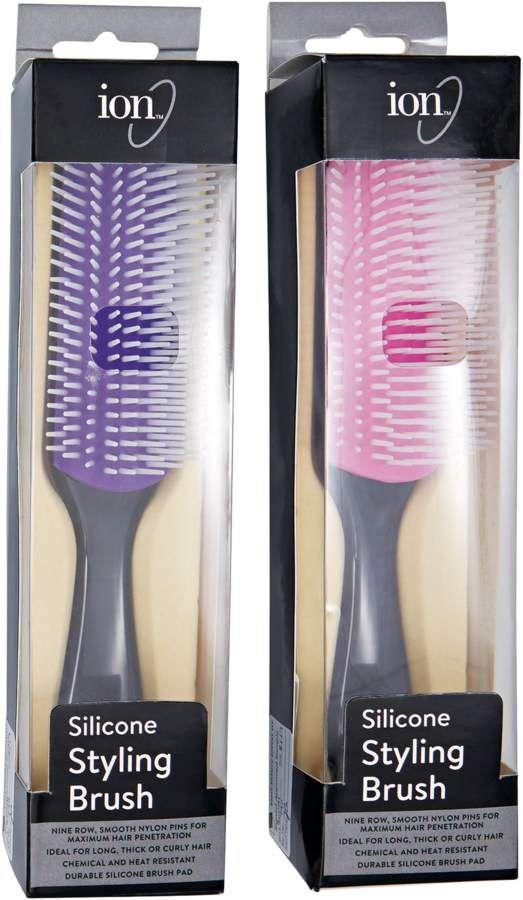 Denman Thermoceramic Straightening Brush With Boar Bristle Model D7 Ceramic Plates Boar Brist With Images Ceramic Straightening Brush Hair Brush Straightener Hair Brush