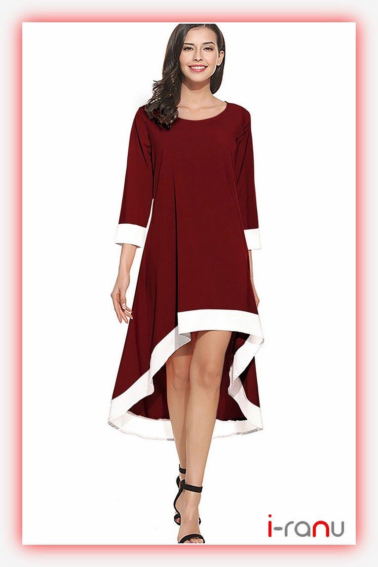 Magic maroon crepe western long dress one piece long dresses i