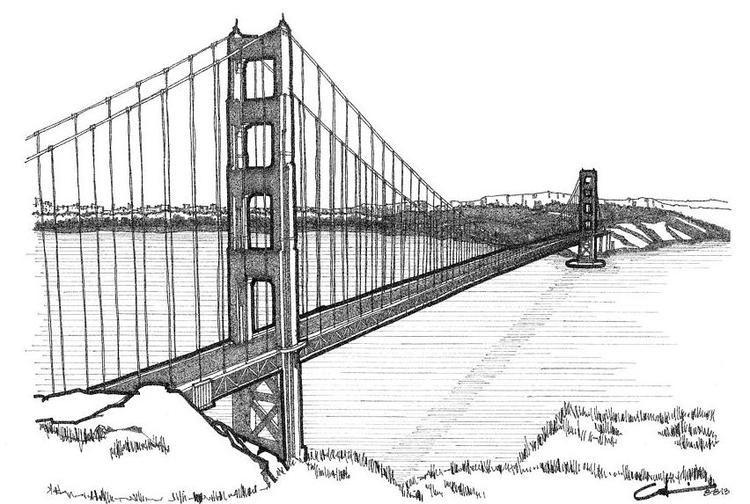 Read Moregolden Gate Bridge Calvin Durham Coloring Page Coloring