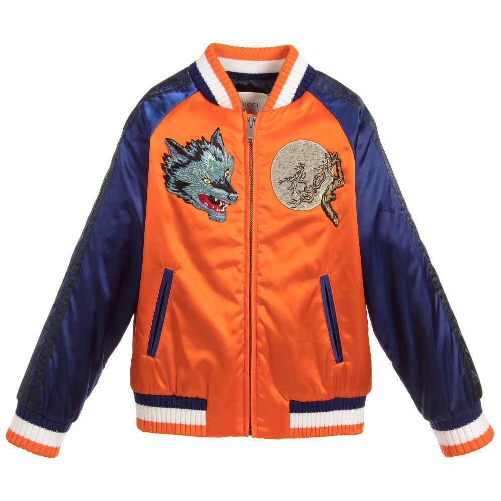 c882a5ce2d15 Gucci - Blue   Orange Bomber Jacket