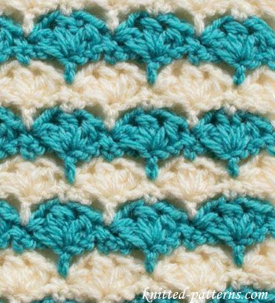 Crochet Stitches - Trident Clusters | Crochet stitch tutorial ...