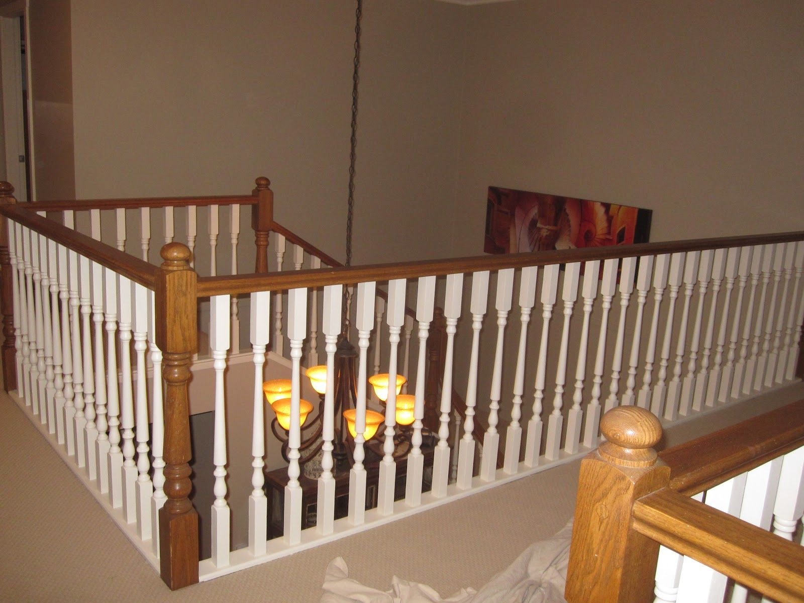 Best Painting A Stairway Railing Black Busy Painting Out Oak Stair Railing Lots Of Work But Great 400 x 300