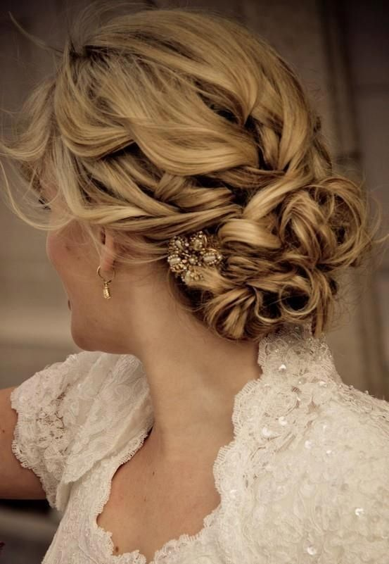 98 adorable wedding hair updos pinterest many brides with long hair choose updos for their big day because such a hairstyle is elegant hot and it wont spoil during your long big day junglespirit Choice Image