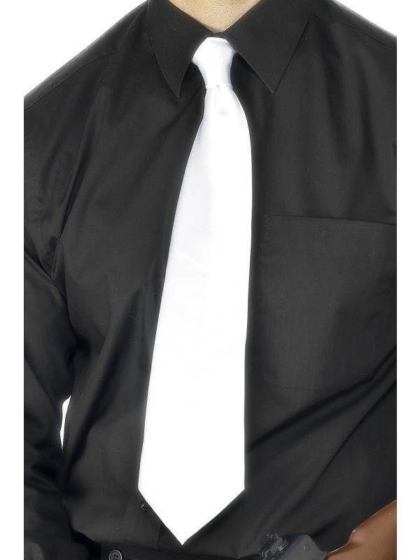 2f2d85d03fdd3 Deluxe White Gangster Tie