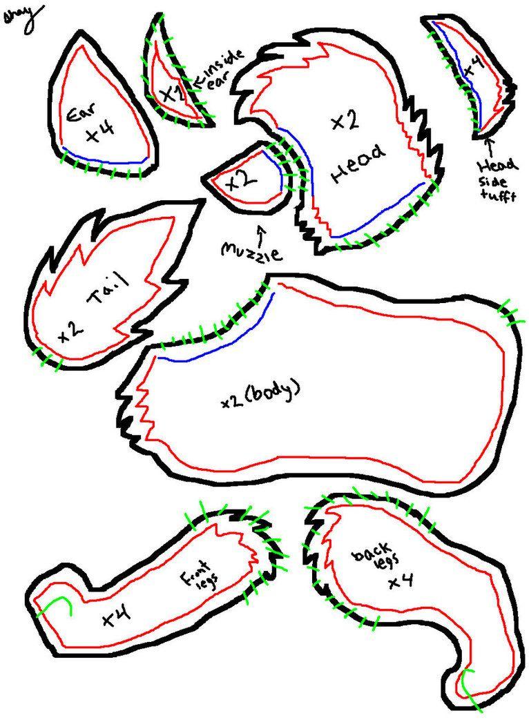 Wolf plush pattern by !mckinneysh on deviantART | decor and craft ...