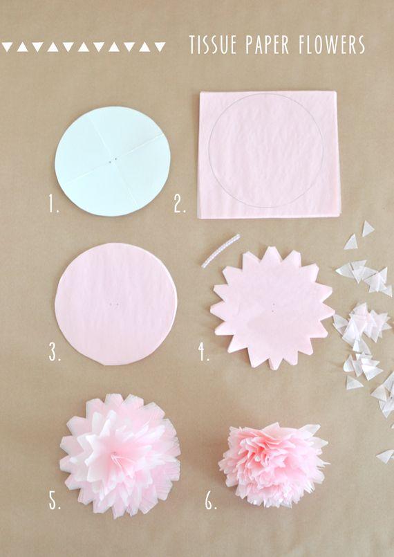 Tissue Paper Flower Garland #paperflowersdiy