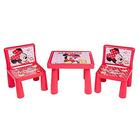 Charming Find Wood Table U0026 Chair To Paint Pink/White Polka Dot Minnie Mouse Table And
