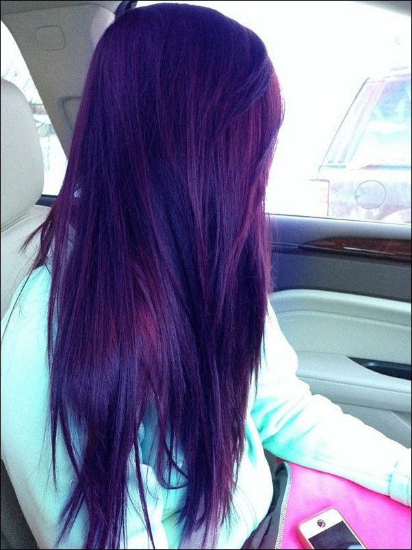 Indigo Hair Color Google Search Plum Hair Beautiful