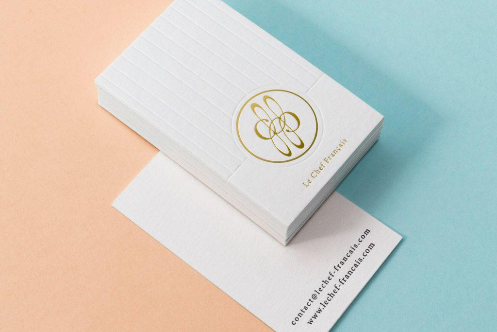 Carte De Visite Letterpress Dbossage Sans Encre Et Dorure Chaud