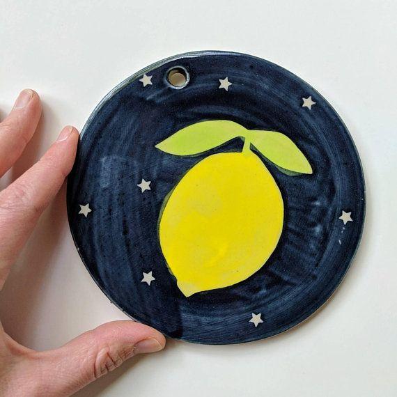 LEMON WALL DECOR: Lemon Decor Kitchen, Ceramic lemon, Ceramic Lemons ...