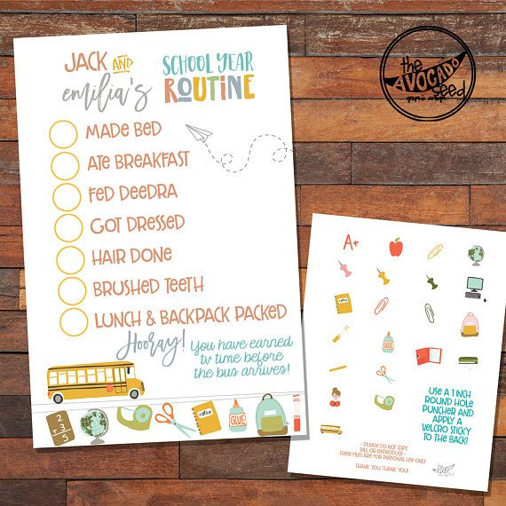 School Year Morning Routine Poster Super Cute And Very