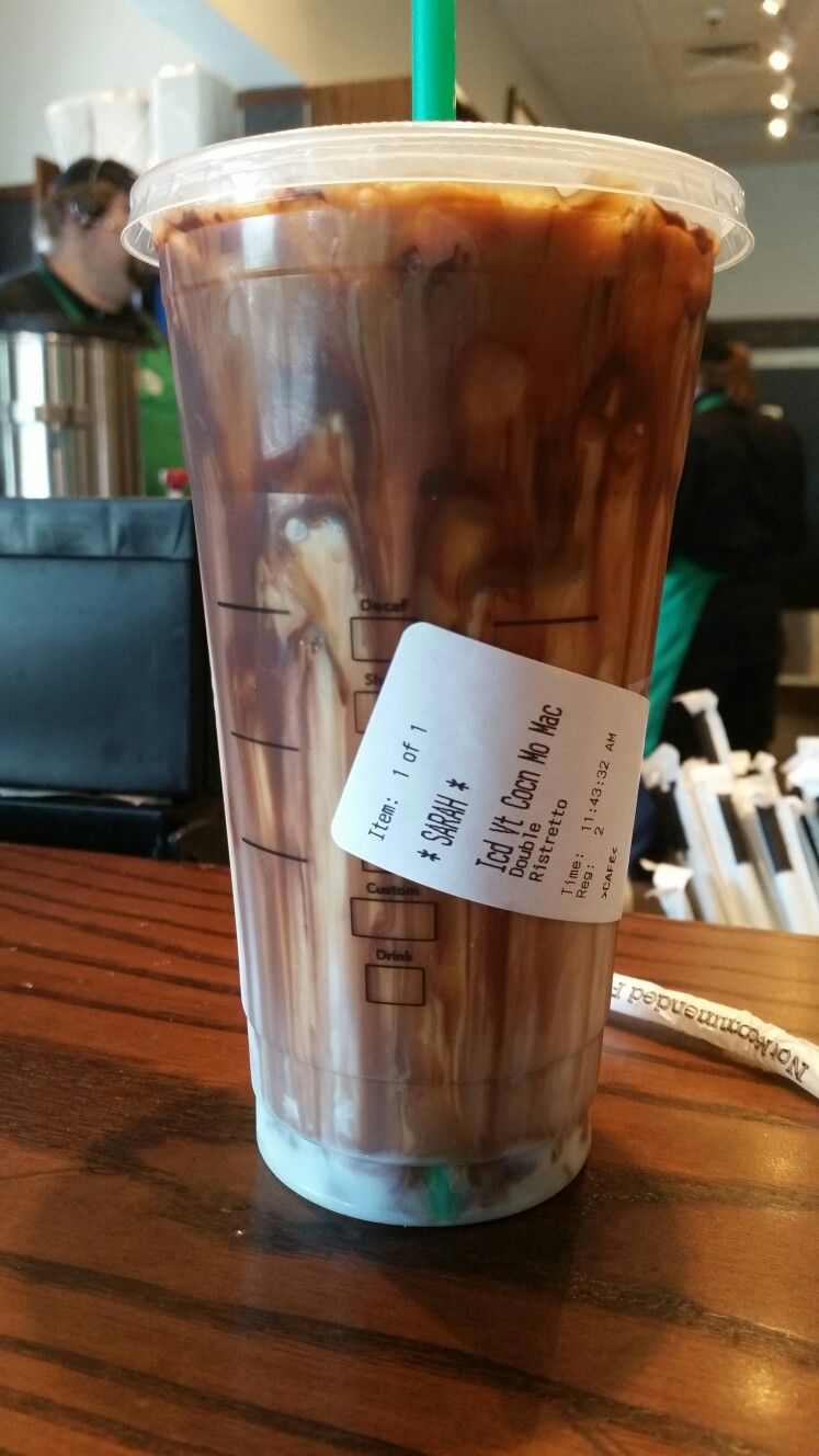 New drink! Iced coconut milk mocha machiatto! Delllllish ...
