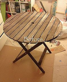 chalk paint patio table, diy, painted furniture, repurposing upcycling