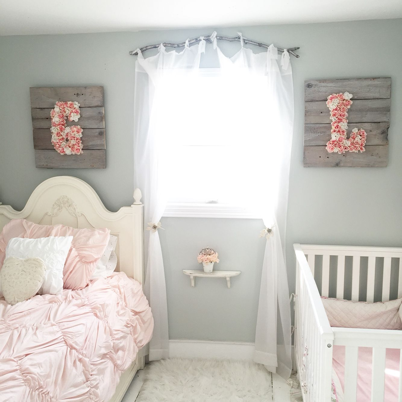 Baby Girl Bedroom Shop Floral Monograms At Littlebrownnest Etsy Com