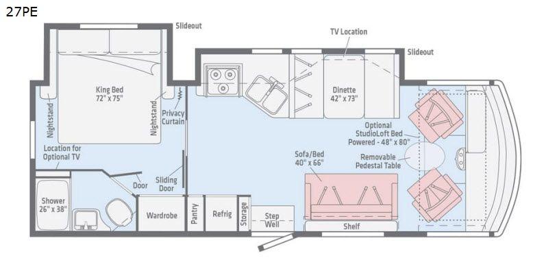 2017 Winnebago Vista Lx 27n For Sale Fort Myers Fl Rvt Com