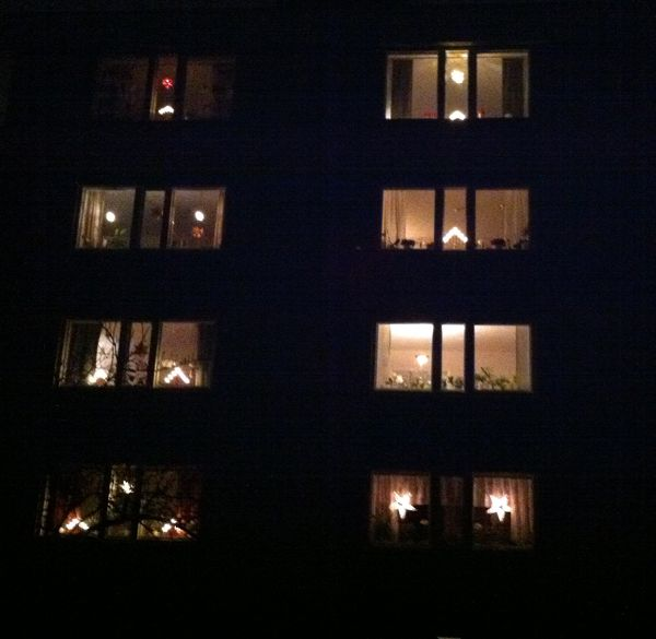 sweden christmas window lights | My window (top right) as seen ...
