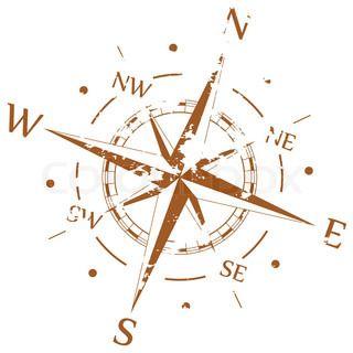 windrose antik vektor | Vintage Papier mit Kompass Rose - Vektor-Illustration | Stock-Vektor ...