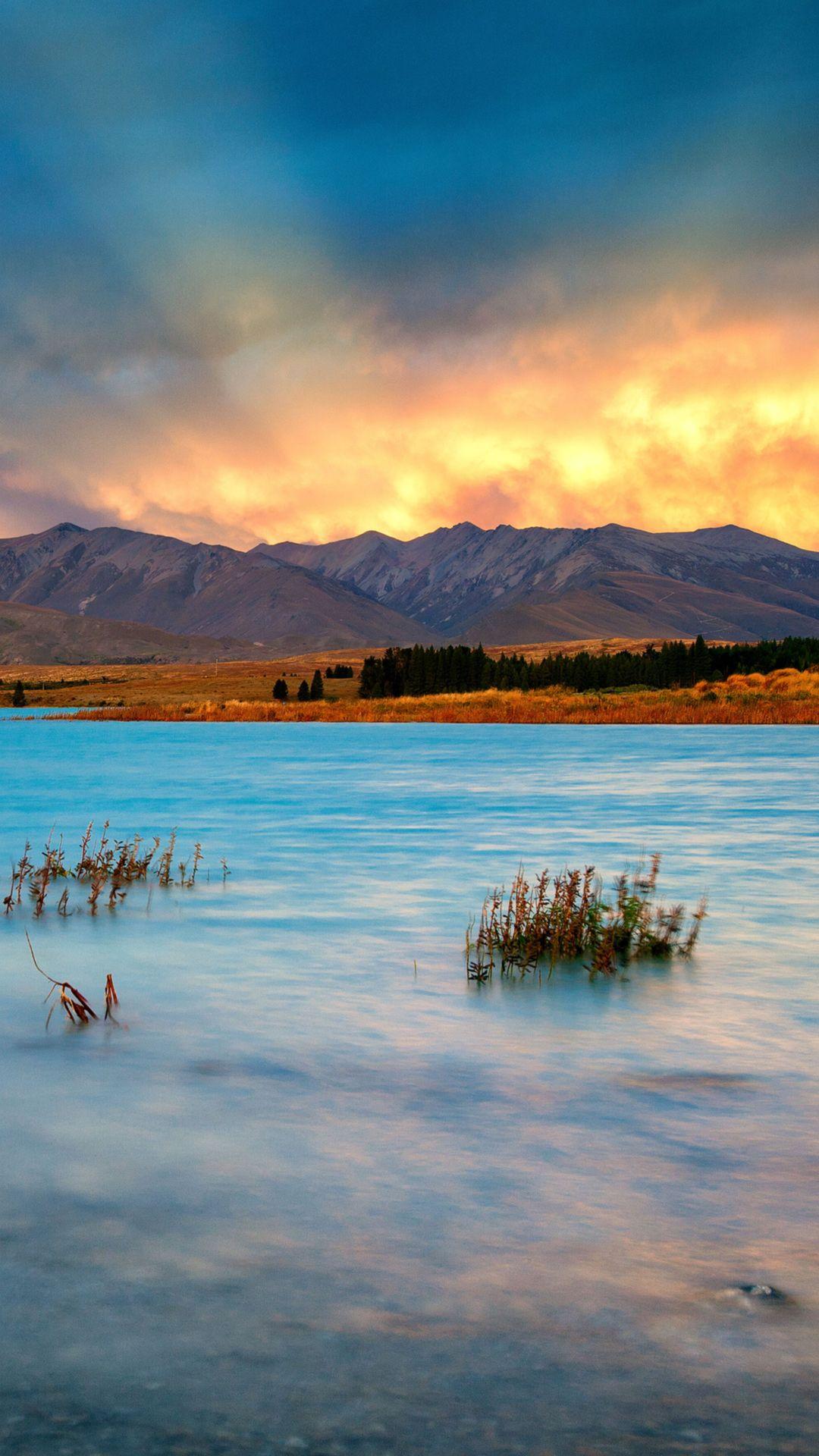 Free Magic Sunset Nature Landscape Mountain Sea Clouds Desktop Wallpaper Free Iphone Mobiles Hd Wallpapers Images Sunset Nature Landscape Desktop Wallpaper
