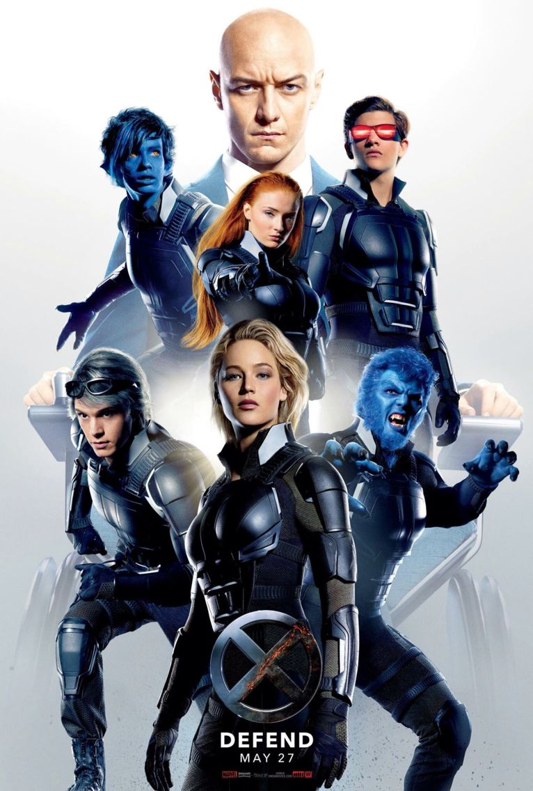 Professor X Nightcrawler Jean Grey Cyclops Quicksilver Mystique Beast Apocalypse Movies X Men Apocalypse Hero Poster
