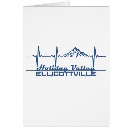 Holiday Valley  Ellicottville  New York Card  Holiday Card Diy
