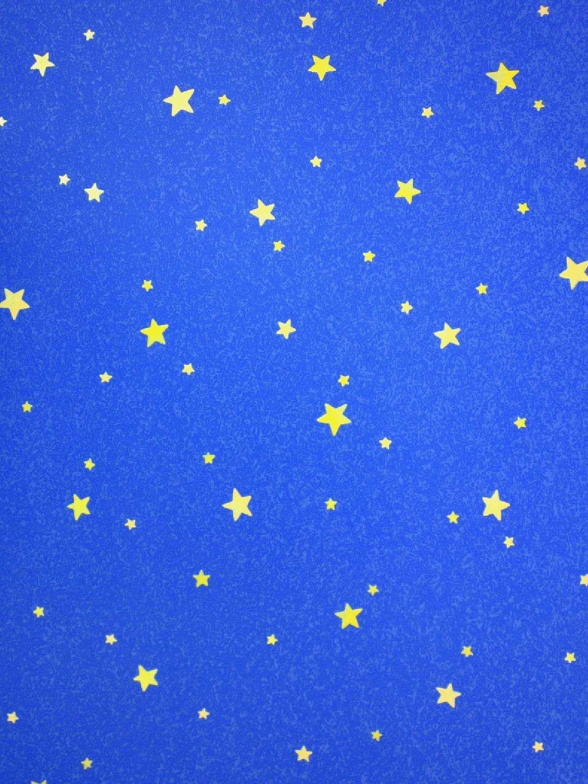 Blue stripe wallpaper ebay - Blue Wallpaper With Yellow Stars Ebay