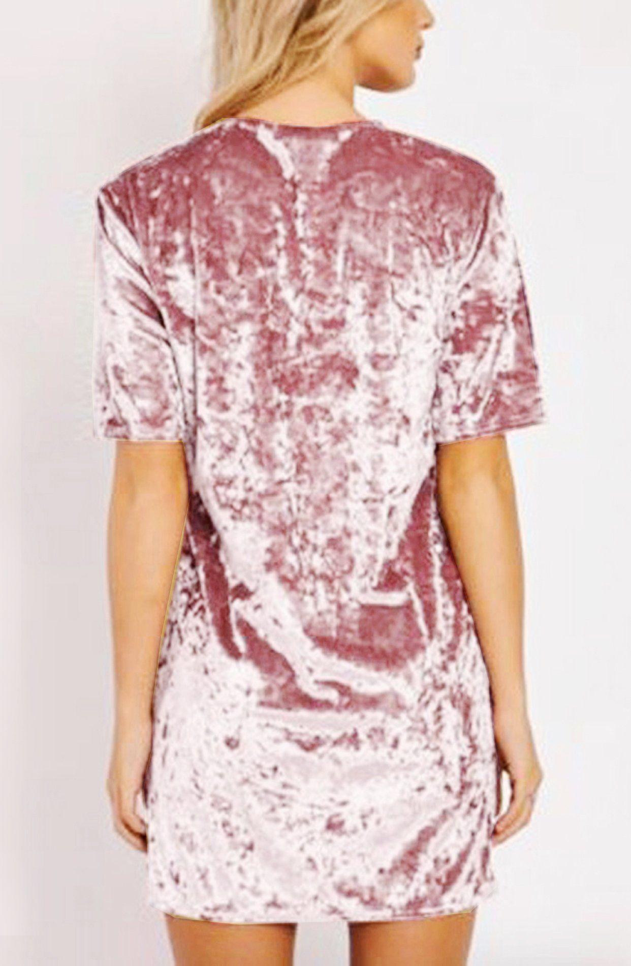 R.Vivimos Women Summer Short Sleeve Crushed Velvet Mini Short Dresses  (Small fc3dfde65