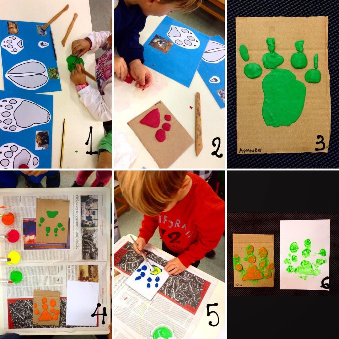 We Had A Ton Of Fun Printmaking Our Animal Footprints Two