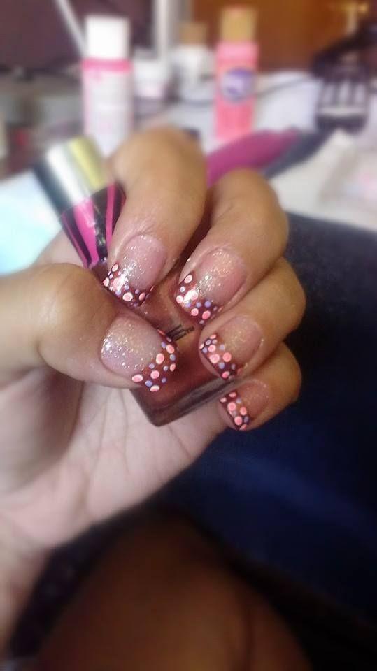 Polka Dot Nails By Heather Polkadots Frenchmani Polka Dot Nails Dots Nails Nails