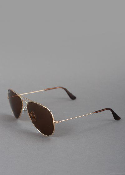 Ray-Ban Aviator Metal Sunglasses - Gold