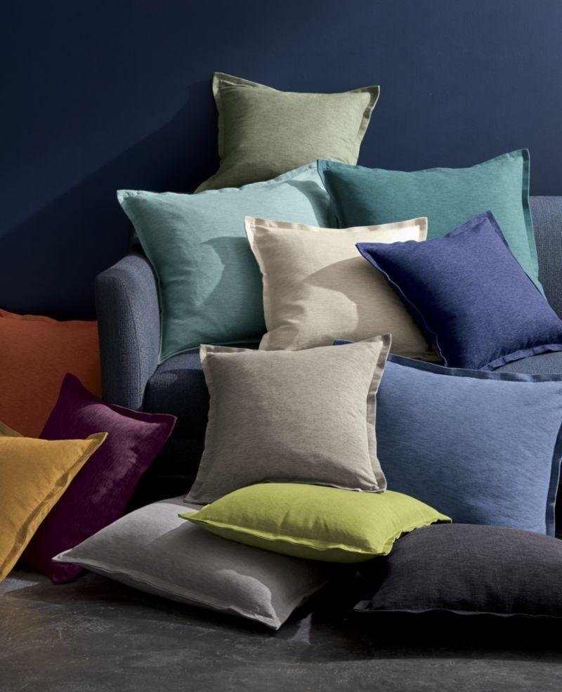 Linden Mushroom Grey 23 Pillow | Crate