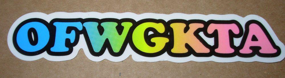 odd future ofwgkta sticker 6 band logo decal new tyler the creator