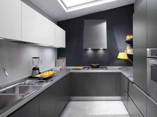 Modern White And Black Kitchens modern white and black kitchen