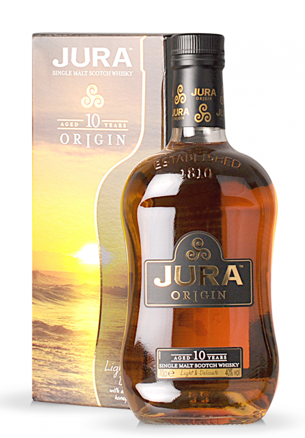 Whisky Isle of Jura Origin 10 ani, Single Malt Scotch (0.7L) - SmartDrinks.ro