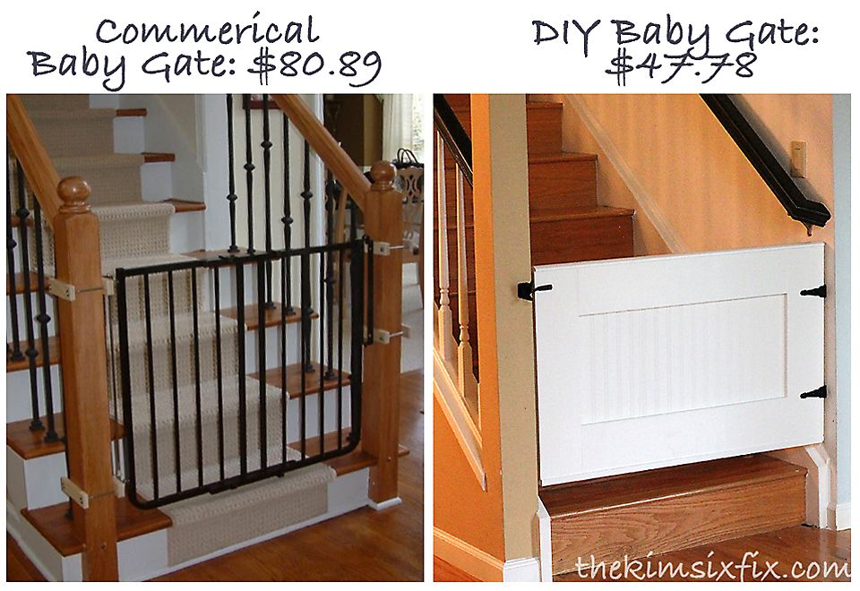 Easy Custom Diy Baby Pet Gate Woodworking Projects Diy