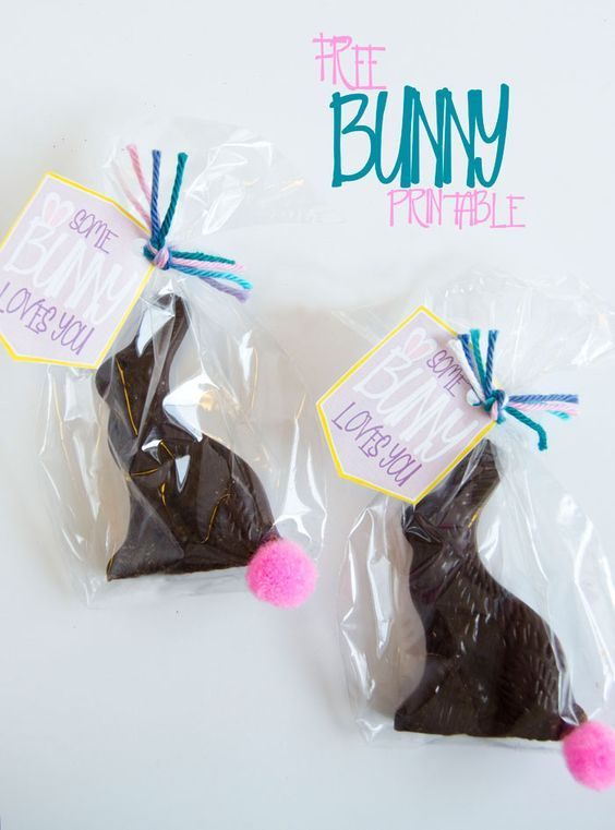 Some bunny loves you free easter printable easter bunnies pair a chocolate bunny with this free easter printable and youll have yourself the most perfect holiday neighbor gift or easter basket goodie negle Gallery