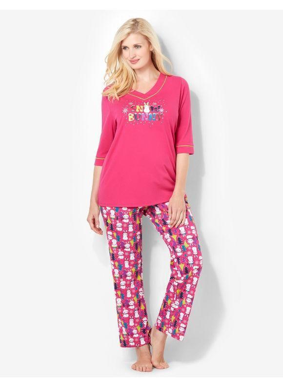 Serenada Catherines Plus Size Sentiments Of Joy Pajama Set - Women s Size  1X 4ff46a57c