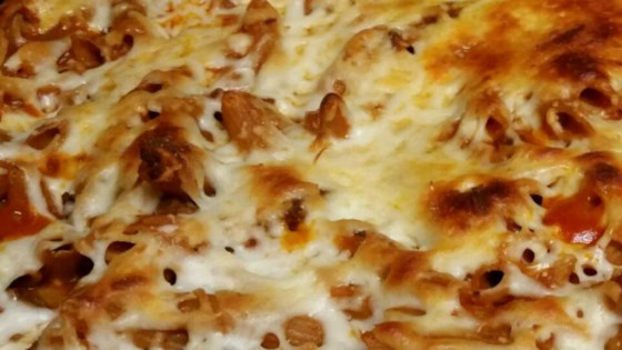 Baked Pasta #tomatocreamsauces Warm up a chilly evening with this hearty bake of ground beef and ziti pasta in a tasty tomato cream sauce flavored with brown gravy, half-and-half, dried spices and two kinds of cheese. #tomatocreamsauces