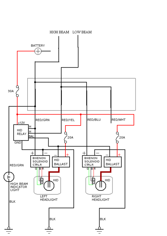 hid wiring diagrams dodge trusted wiring diagram u2022 rh soulmatestyle co HID Light Wiring Diagram xentec hid wiring diagram